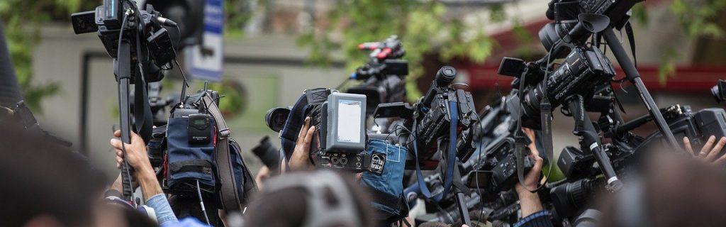 press, camera, the crowd